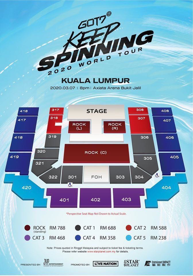 "OFFLINE TICKETING SERVICE FOR GOT7 2020 WORLD TOUR ""KEEP SPINNING"" IN KUALA LUMPUR"