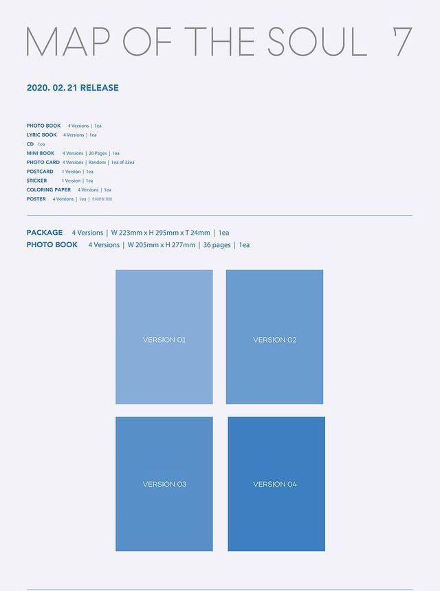 [PREORDER] BTS 4th FULL ALBUM: MAP OF THE SOUL : 7
