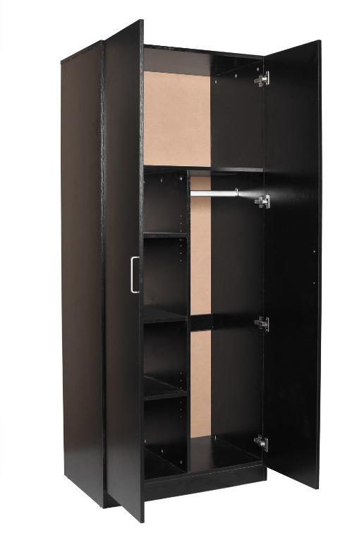 Quick Sale!!!REDFERN STORAGE PACKAGE-2 DOOR COMBO + 4 DRAWER CHEST (BLACK/WHITE)--$325