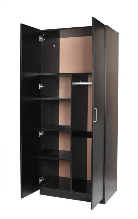 Quick Sale!!!REDFERN STORAGE PACKAGE-2 DOOR COMBO + 4 DRAWER CHEST (BLACK/WHITE)