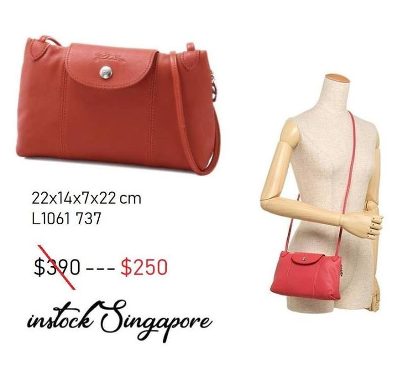 READY STOCK authentic new  LONGCHAMP LE PLIAGE CUIR CROSS BODY / shoulder bag Full leather series 1061