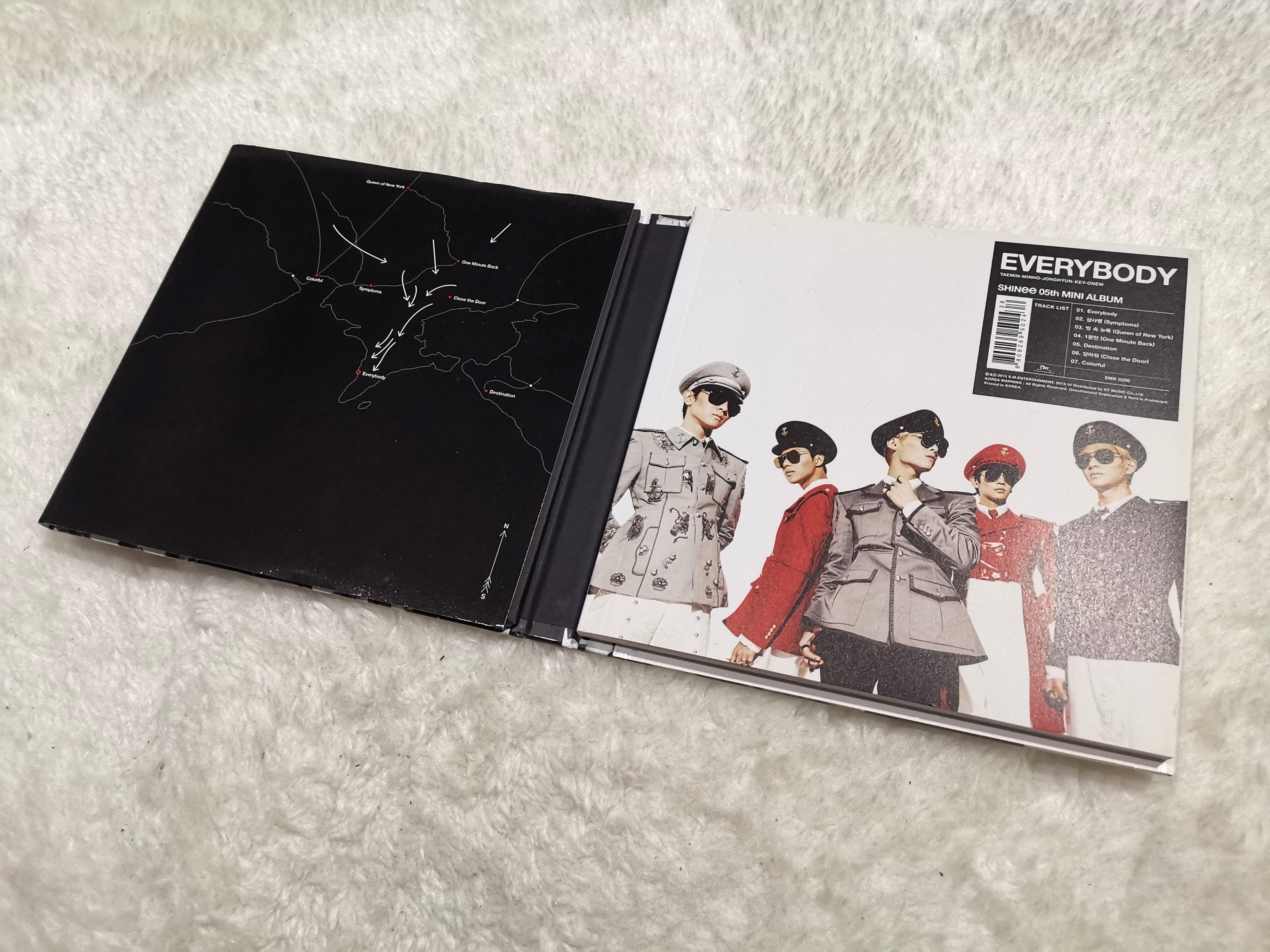 [FREE POSTERS] SHINEE ALBUM EVERYBODY // 5TH MINI ALBUM