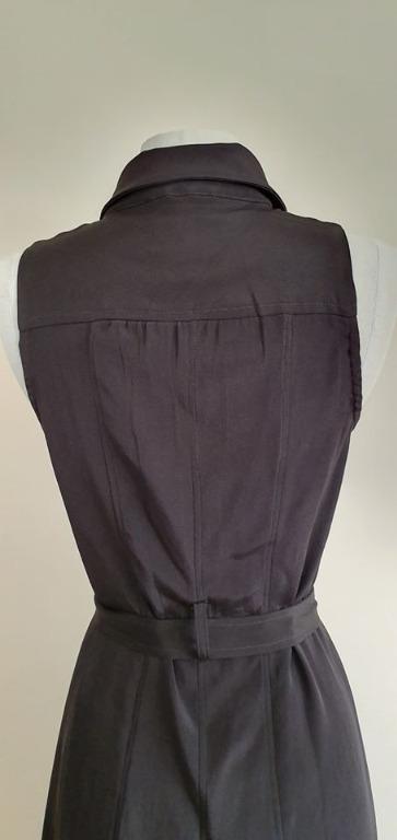 size 34 fits AU6 vgc kookai black sleeveless button up dress with sash