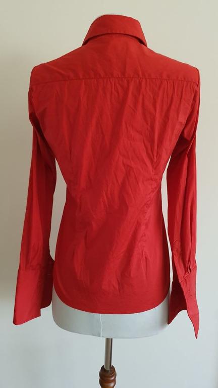 size 4 vgc rhodes & beckett button up dress shirt with large cuffs