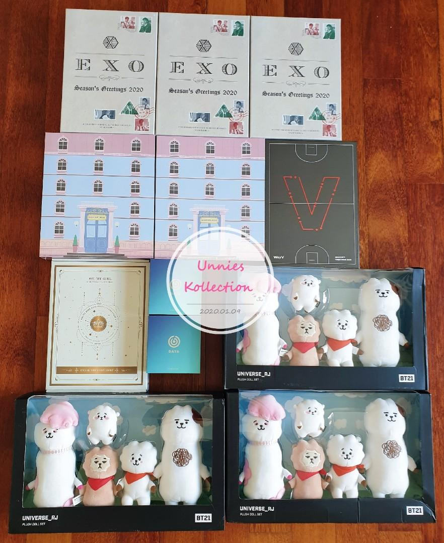 💥💥STOCK ARRIVAL💥💥  EXO, SEVENTEEN, WAYV, OH MY GIRL, DAY6 & BT21