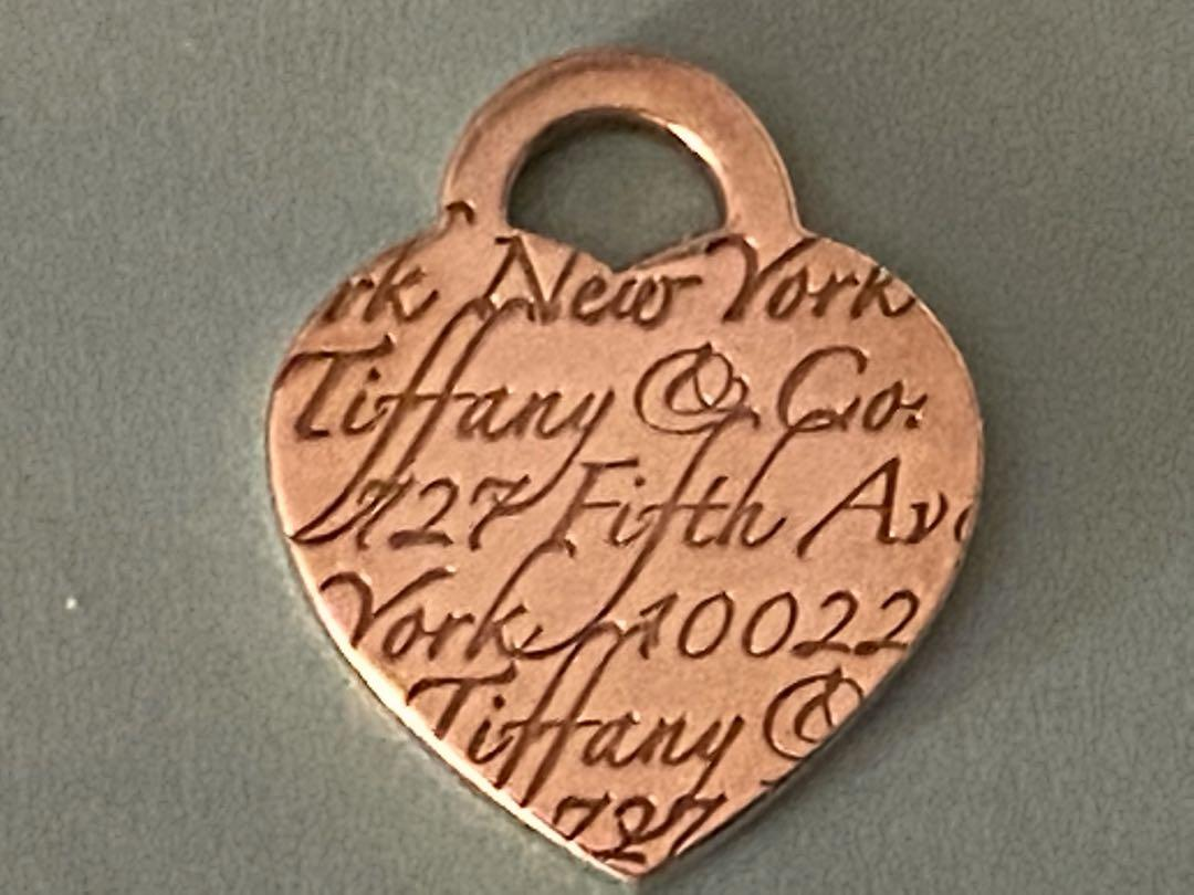 Tiffany & Co Fifth Ave Notes Collection Heart Charm