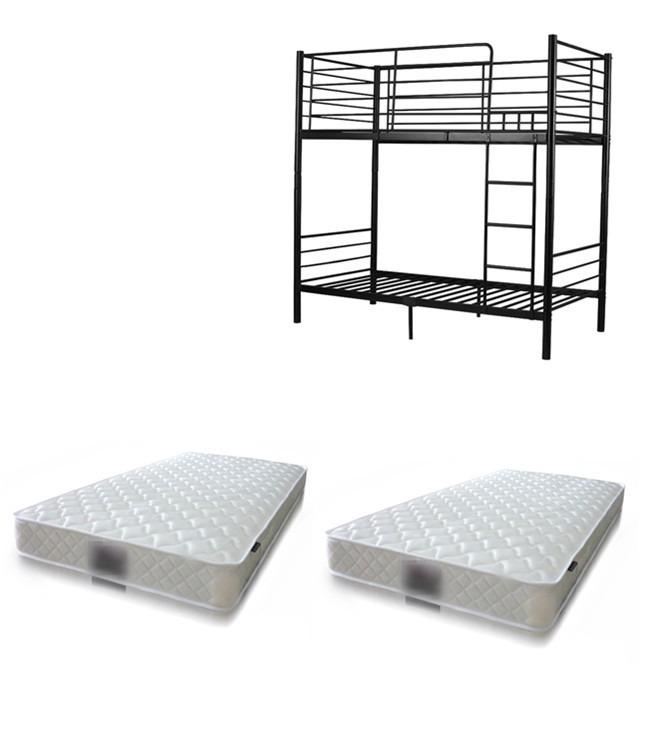 VALUE PACKAGE!!! LAST FEW ITEMS MUST GO!!! SINGLE BUNK BED(BLACK/WHITE)+2*SINGLE MATTRESS LUNA 168.