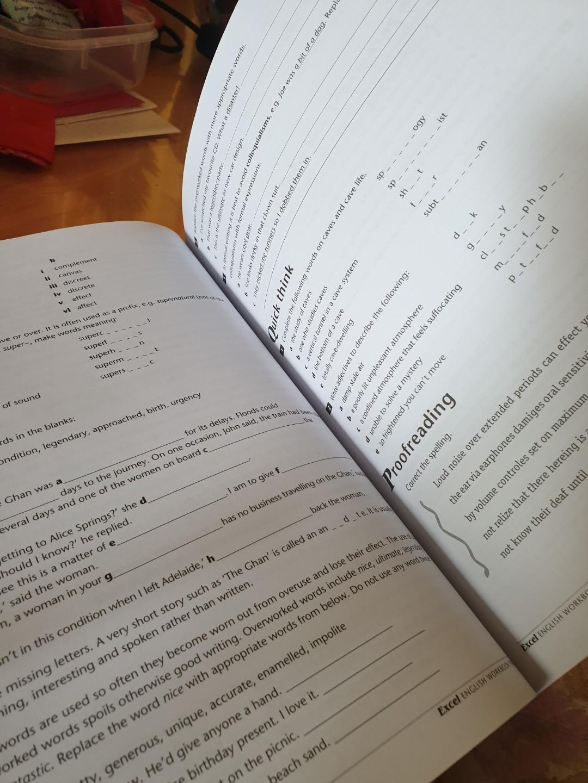 Year 8 Excel- English/Comprehension Workbook/Textbook