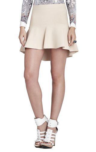 """BCBGMAXAZRIA """"Evelyn"""" peplum skirt: size S"""