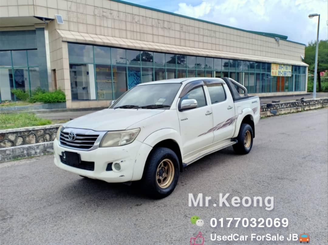 2011TH🚘TOYOTA HILUX 2.5AT 4X4 G SPEC PickUp Cash OfferPrice💲Rm46,500 Only‼LowestPrice InJB Call📲KeongForMore‼Blacklist Boleh Loan🤗