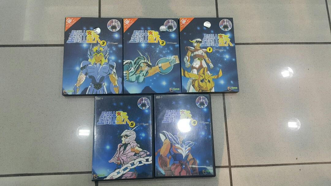 聖鬥士星矢 DVD 5隻 1-114集(粵語版)