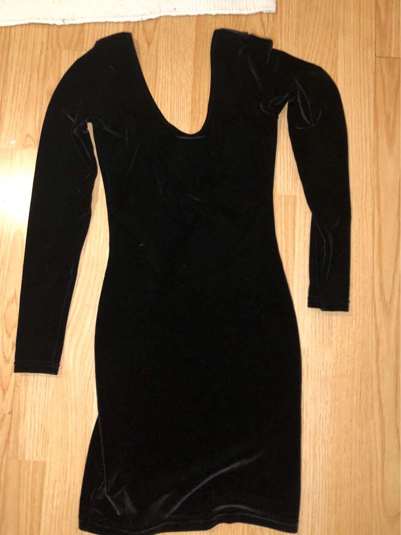 American apparel women's Velvet bodycon minidress size small