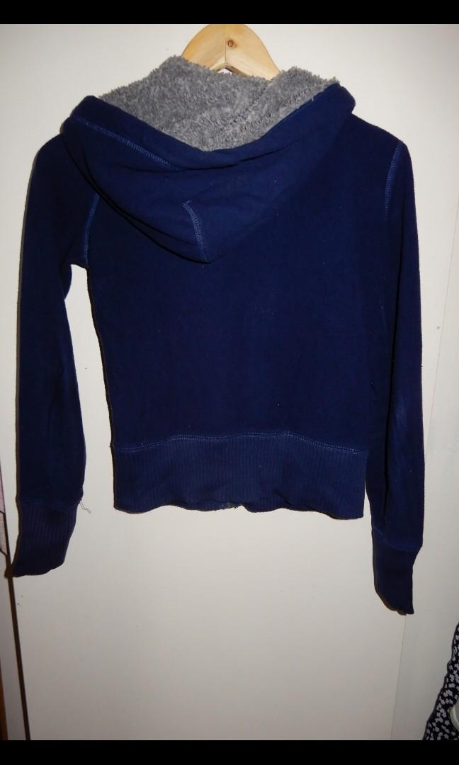 American eagle blue and grey zip up jumper size XS
