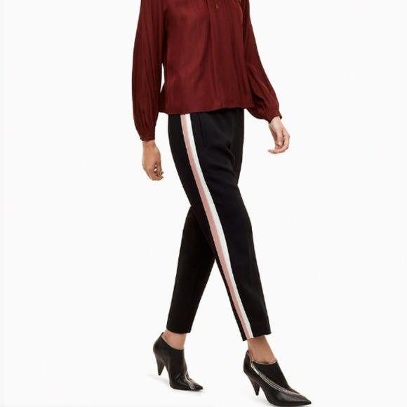 Aritzia Darontal pants, black with white and green stripe