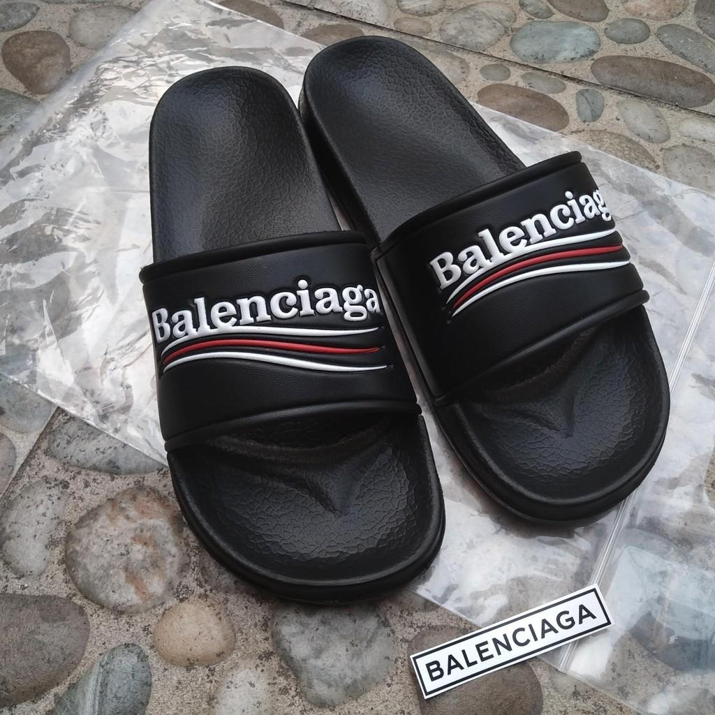 Balenciaga slip on sandal sendal slippers