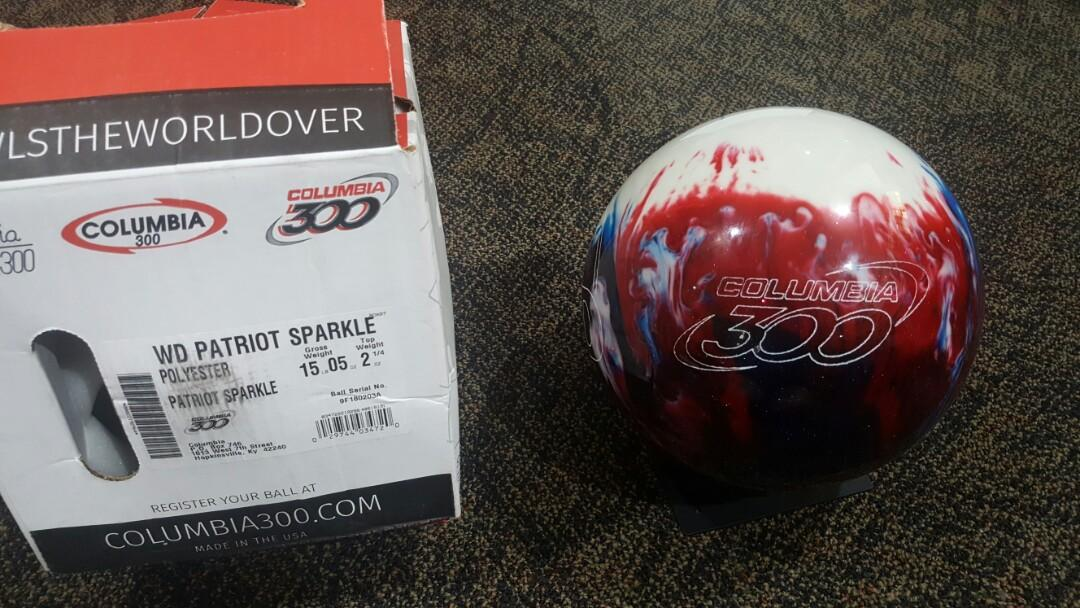 Patriot Sparkle White Dot Bowling Ball