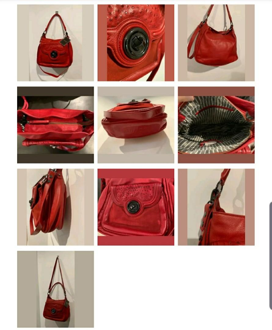 BRAND NEW* MIMCO SHOULDER BAG RED LEATHER -RRP$450 dust bag