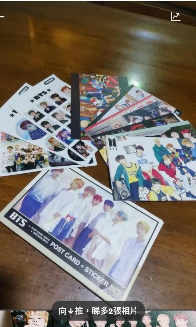 BTS ✨POST CARD + STICKER SET #TsuenWanGaiFong