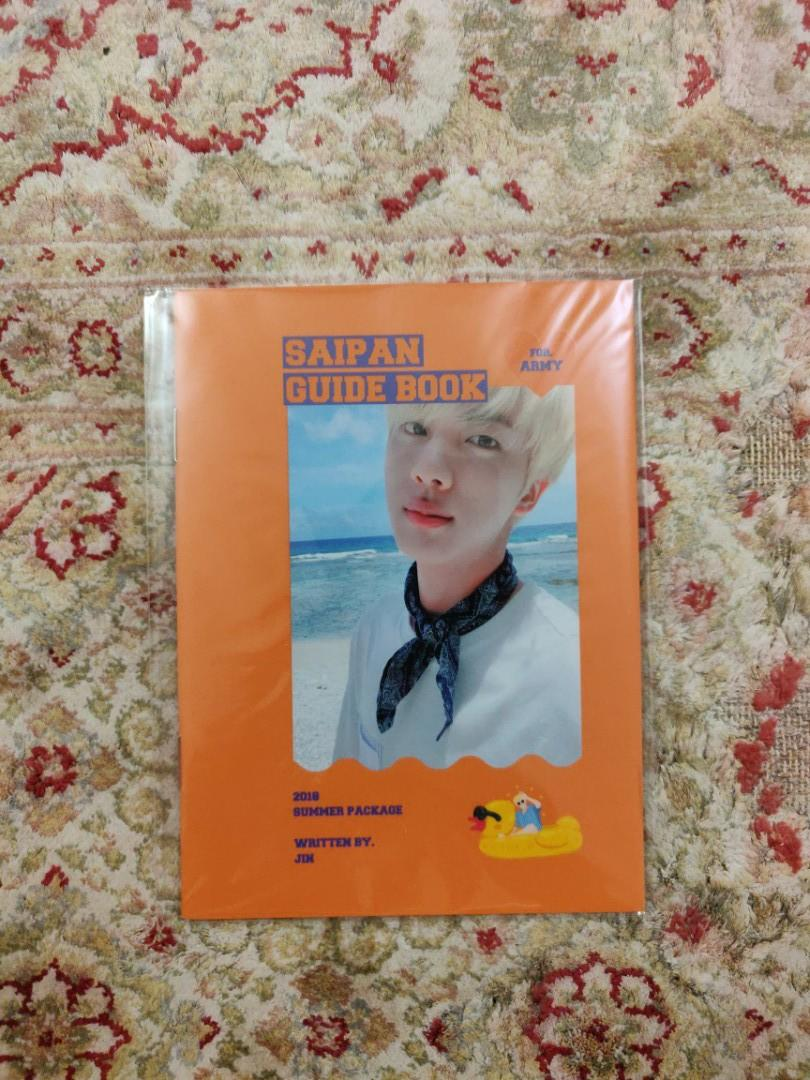 BTS Summer Package 2018 in Saipan Guide Book (Jin Ver.)
