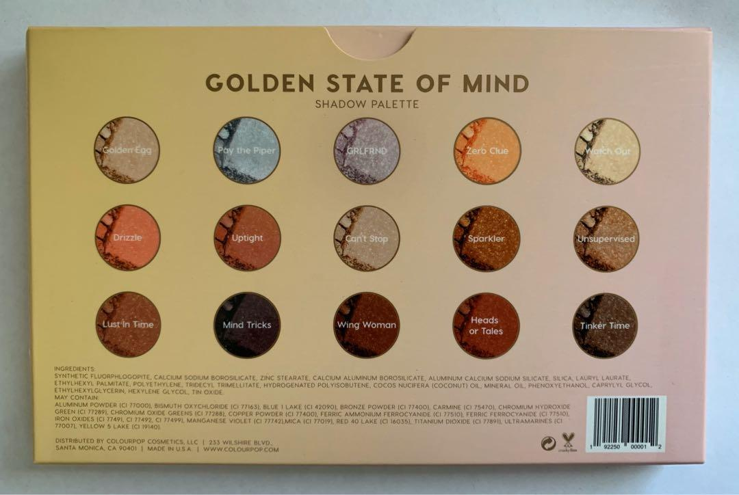 ColourPop - Golden State of Mind (Limited Edition)