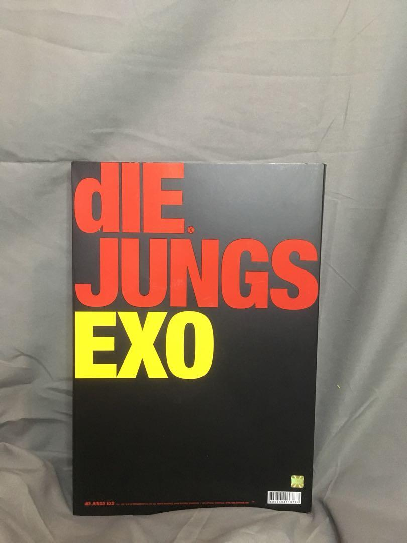 EXO DIE JUNG CD PHOTOBOOK (Exo Ver.)  + Free EXO LOVE ME RIGHT POSTER