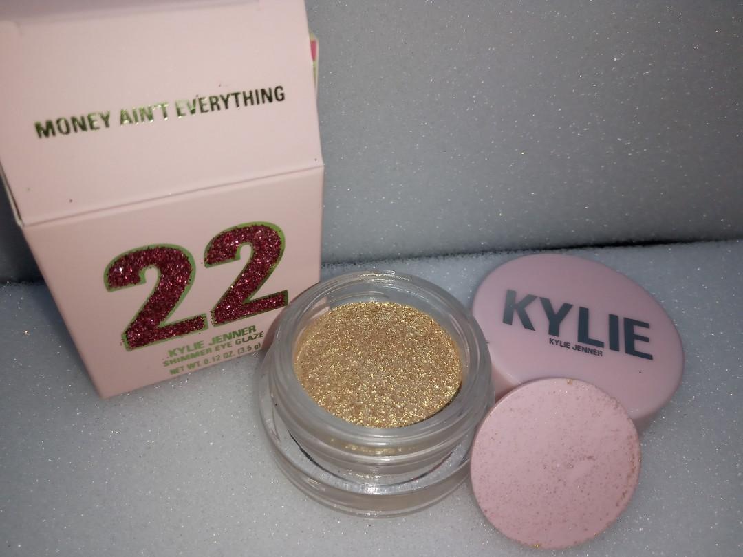 Kylie cosmetics - shimmer eye glaze - aqua mama, ocean child, dime piece  & money ain't everything.