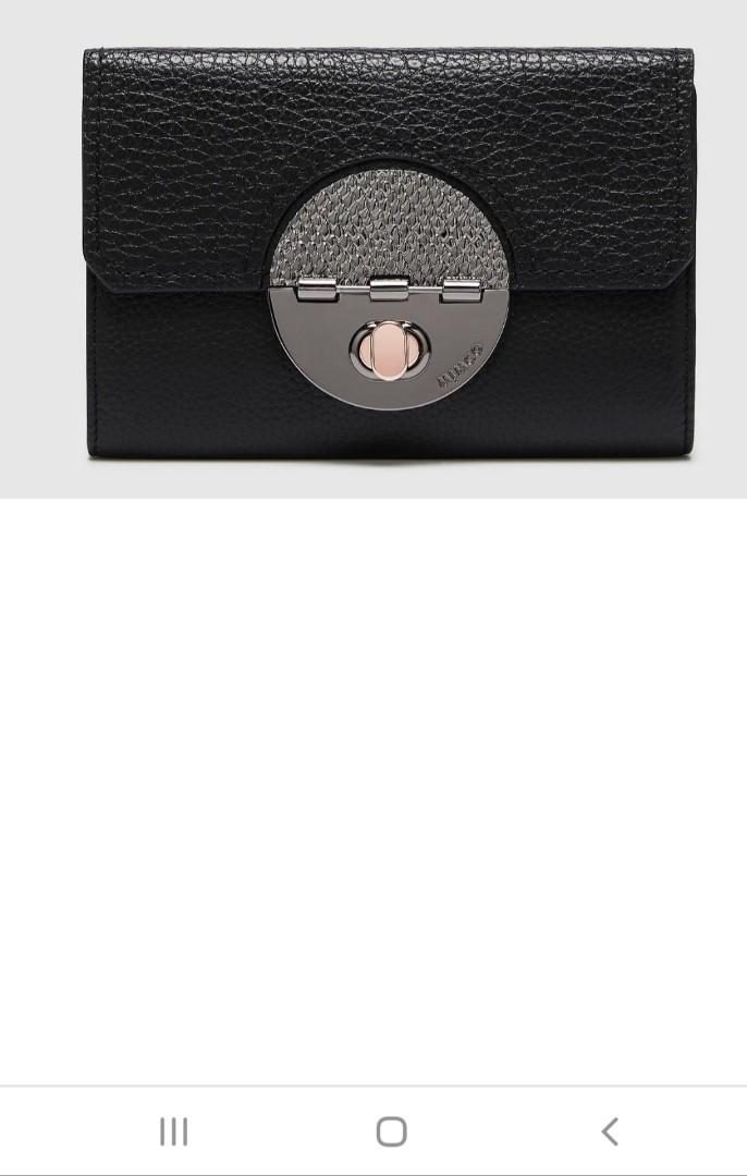 MIMCO BLACK TURNLOCK EXTRA LARGE WALLET BNWT DUSTBAG