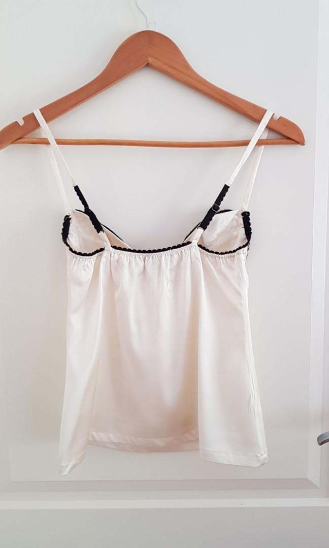 NEW Silk camisole with underwire  (x1 size 10 and x1 size 12 avaliable)