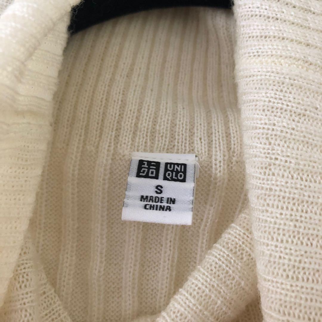 (Size S) NEW Wool Blend Ribbed Sleeveless Turtleneck