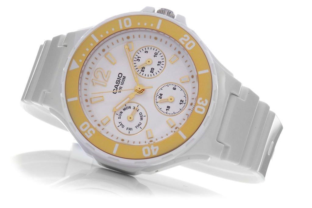 NEW🌟CASIO SPORTS WATCH : 100% ORIGINAL AUTHENTIC : By BABY-G-SHOCK ( BABYG ) COMPANY : LRW-250H-9A1 (WHITE GLOSSY ROSE-GOLD)