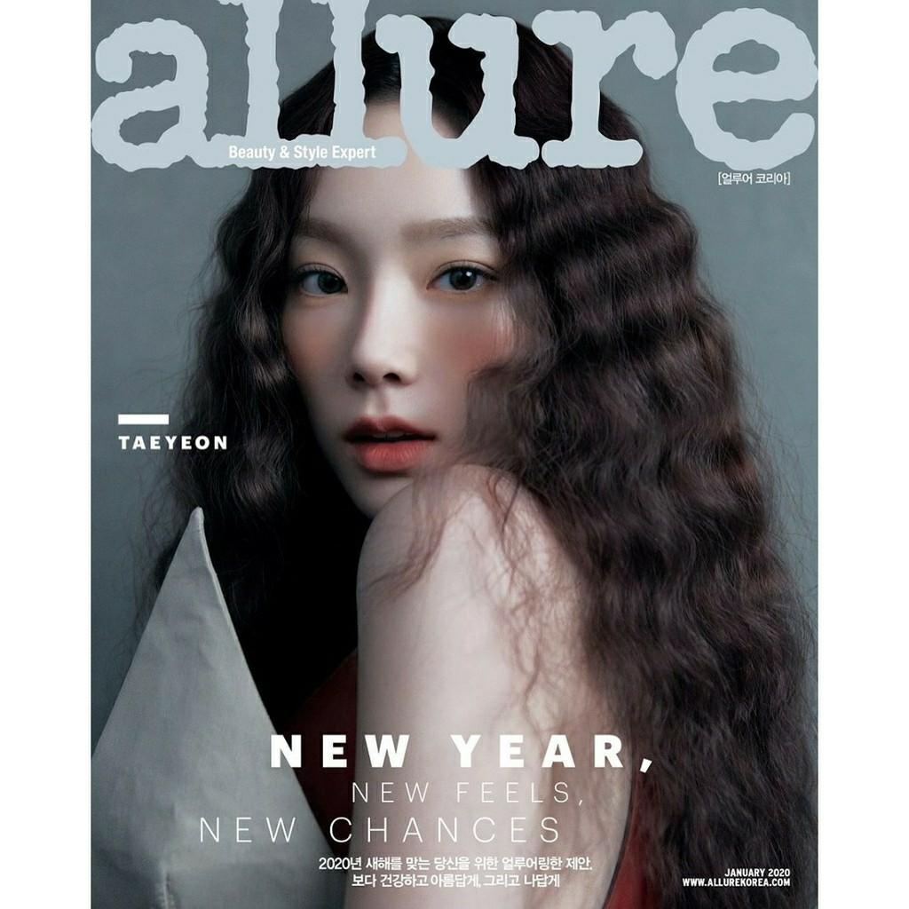 (PO) ALLURE 2020. 01 / JAN - TAEYEON COVER PHOTO  KOREAN MAGAZINE