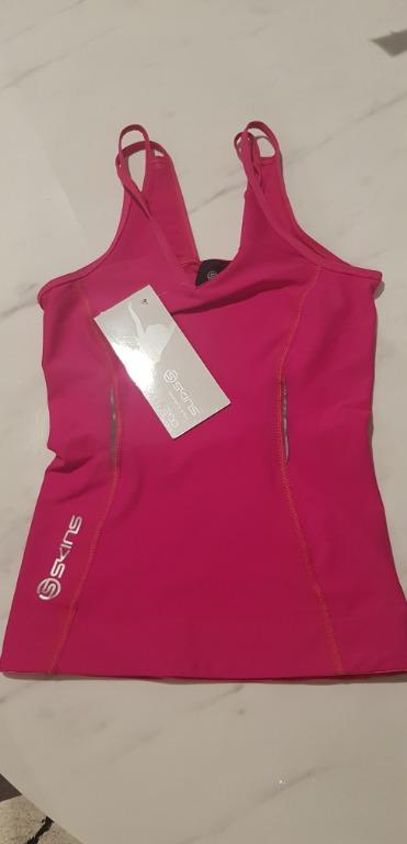 Skins A200 Pink Womens Compression Tank Top XS BNWT