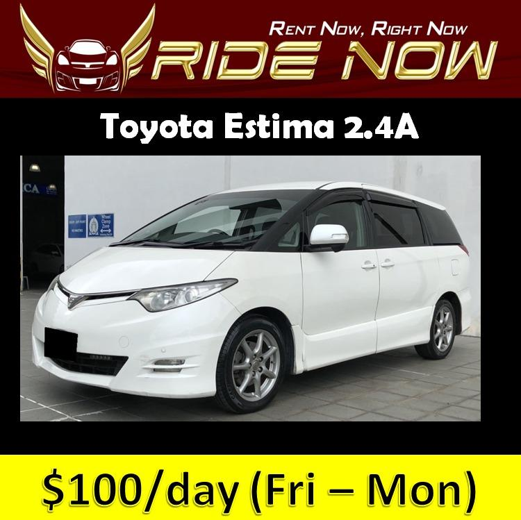 Toyota Estima 2.4A - 8 Seater Cheap and Affordable P Plate Friendly Car Rental