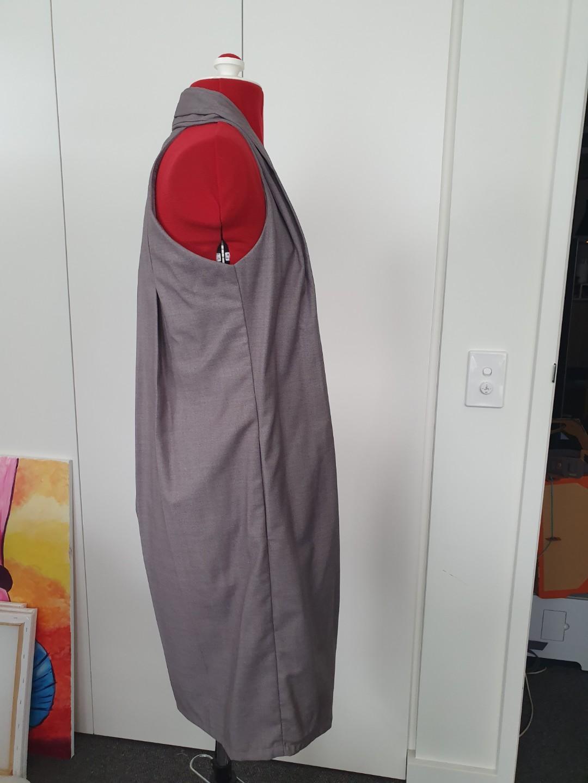 Twenty3 - light grey halter  work dress - size XS #swapau