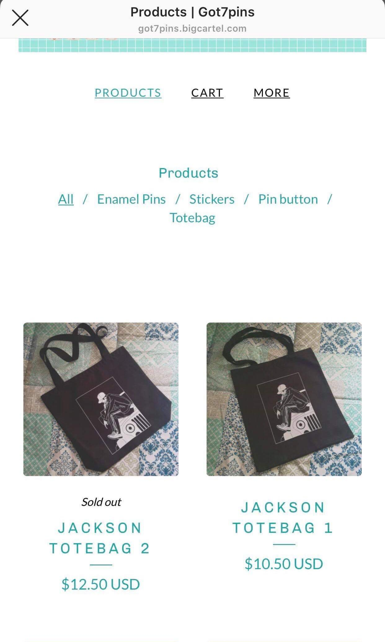 Unofficial Fan GOT7 Merchanise Jackson Wang Tote Bag