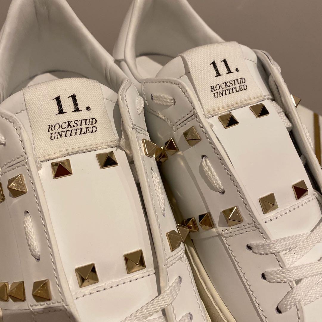 Valentino Garavani White Untitled Calfskin Sneakers