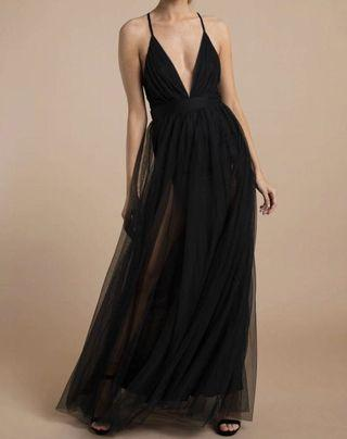 Black evening gown from honey