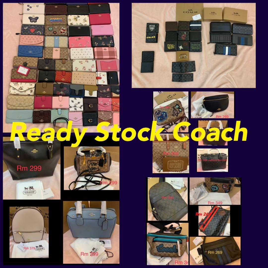 (11/01/20)Ready Stock authentic coach women bag wallet purse clutch sling bag