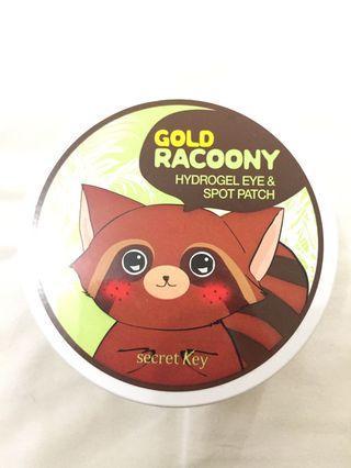 Secret key gold racoony hydrogel eyepatch