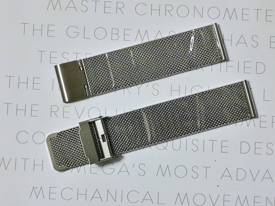 20mm & 19mm Stainless Steel Milanese Mesh Watch Strap Bracelet (superior enhanced double lock system)