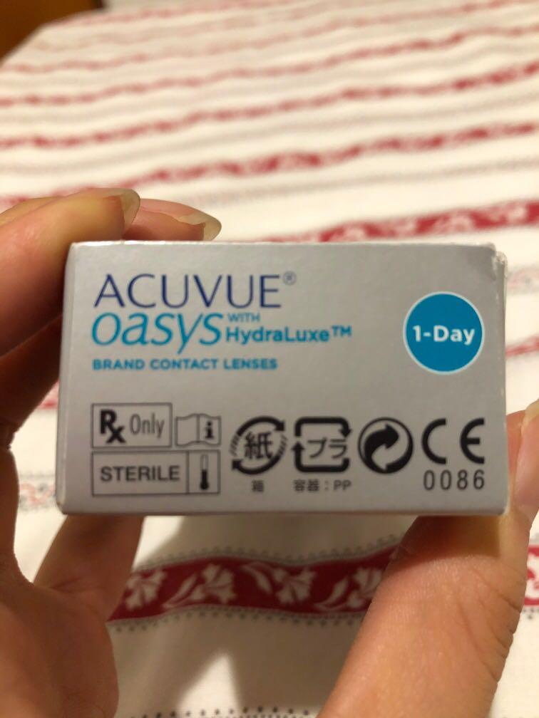 Acuvue oasys with hydraluxe contact lenses 1-day 30 lenses (-5.50)