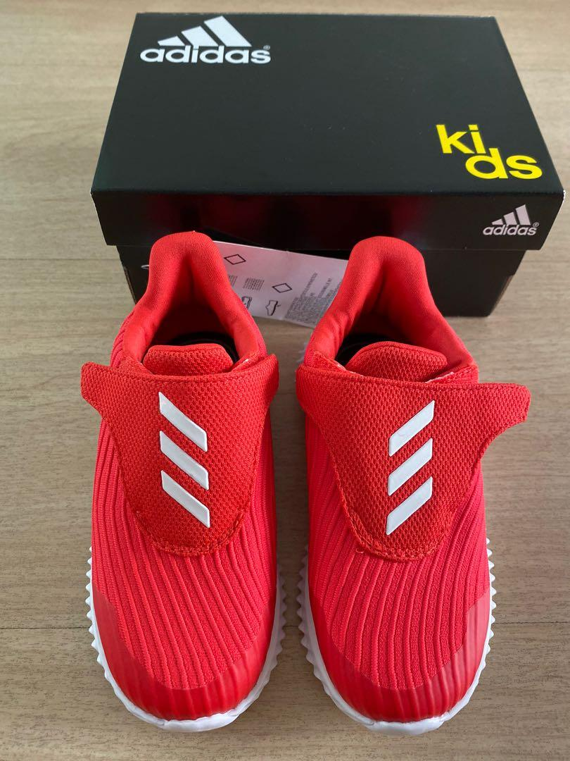 New Adidas Fortarun Infant Trainers Red