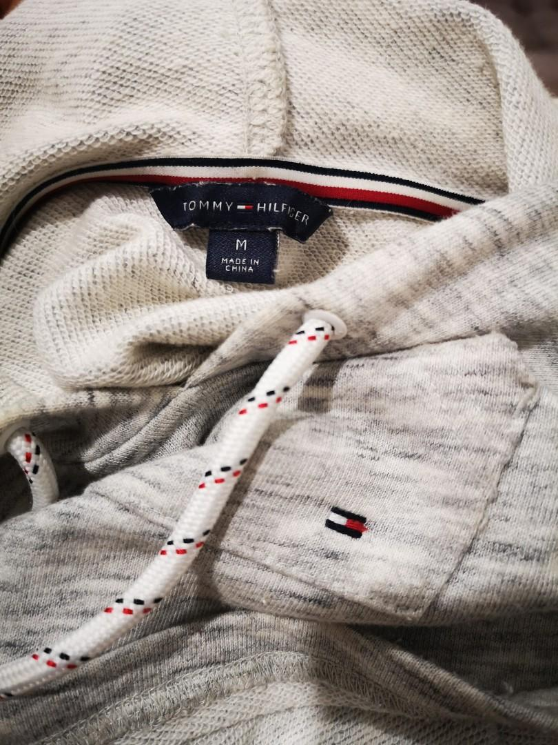 Authentic Tommy Hilfiger New York Grey Sleeveless Hoodie