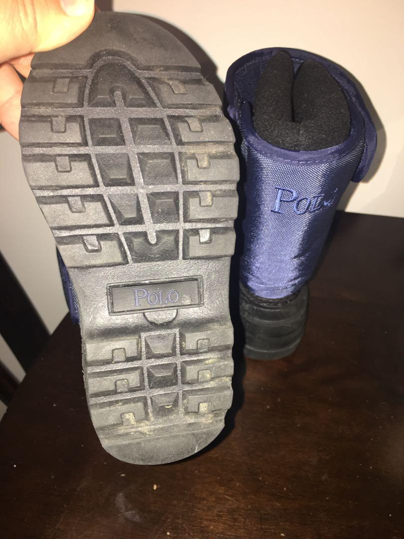 Brand new Ralph Lauren Polo infant boys winter boots sz 6