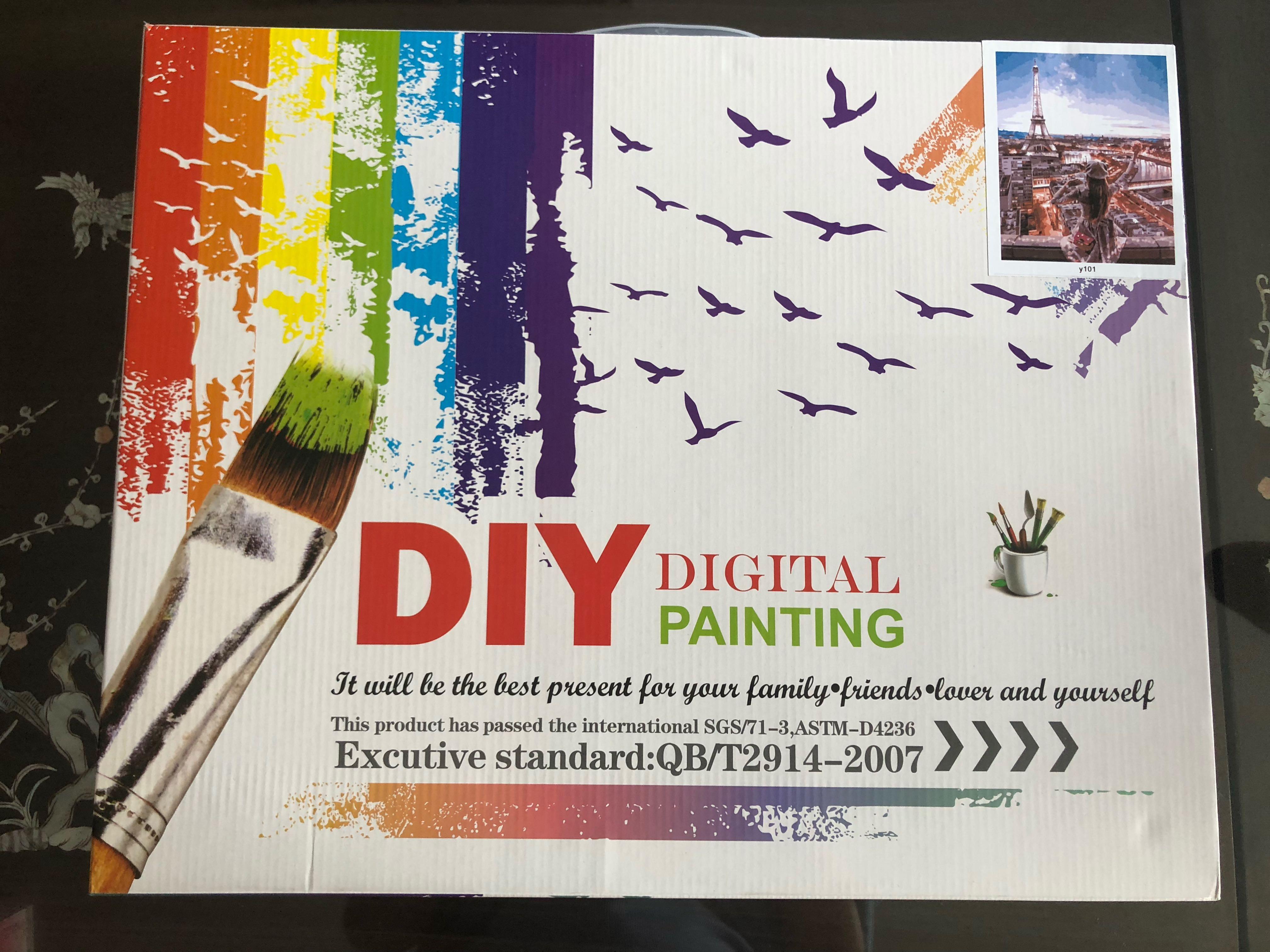 Diy Digital Painting Design Craft Art Prints On Carousell