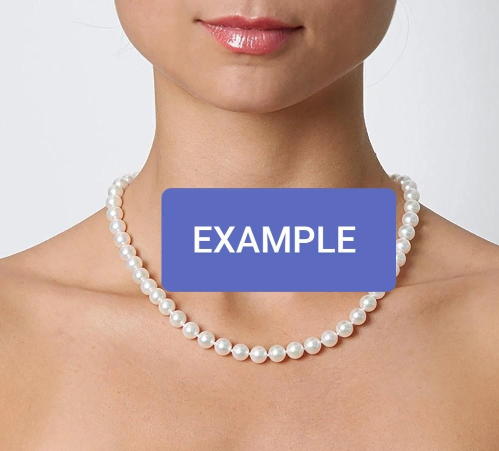 EXCELLENT CONDITION - JAPANESE WHITE AKOYA PEARL NECKLACE & EARRING SET - WHITE COLOR PEARLS - (BOUGHT AROUND RM 4000+
