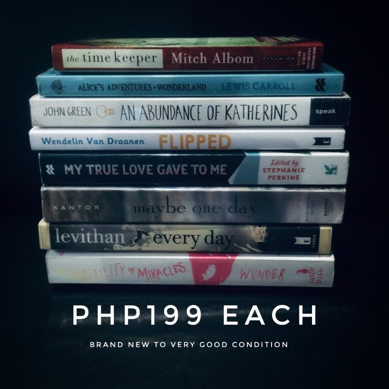 FLASH SALE: ASSORTED , YA BOOKS AT PHP199 EACH! FROM JAN11-15 ONLY!