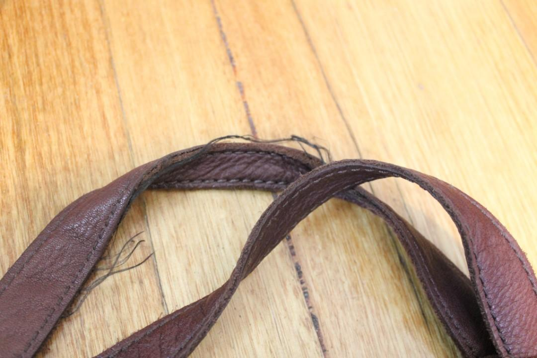 Fossil - Real Leather Brown Handbag w Long Strap or Handheld Option