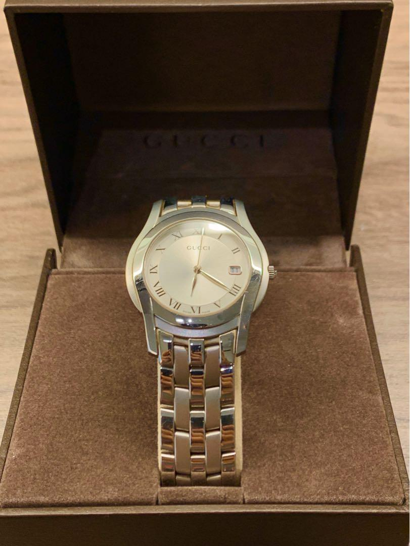 Genuine Gucci Dress Watch 100% Original with Full Box & Papers Model 5500M Unisex