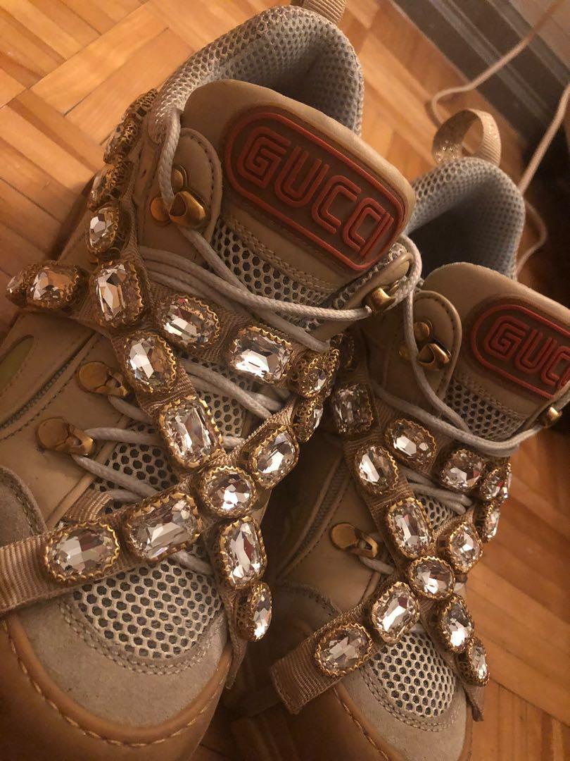 Gucci Flashtrek women's sneakers with removable crystals